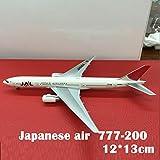LKHJ Jouet d'avion 1: 500 Germany Airline A321 D-Aria Lufthansa Avion Model Metal Static Display Collection Diecast Collection-Japonais 777-200