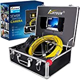 Pipe Inspection Camera,Anysun 30m-100ft Sewer Industrial Endoscope Waterproof IP68 Snake Dvr Record Video with 7 Inches LCD Screen(Include 8GB SD Card)
