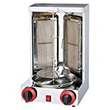 Aistan SB25 Barbecue LPG Gas Turkey Doner Kebab Machine Shawarma Roasters Rotisserie Ovens Gas Two...