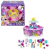 Polly Pocket coffret Gâteau d'Anniversaire compte à rebours, 25 surprises à découvrir sur une semaine, jouet pour enfant à partir de 4 ans, GYW06