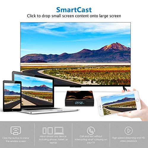 『Android 9.0 TV BOX ー Percrocuta 4K 高精細 アンドロイド9.0 Wifi テレビボックス RK3228A , 2GB RAM 16GB ROM 搭載 WIFI2.4GHz 経由 - Android TV BOX』のトップ画像