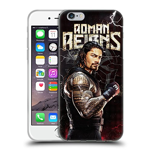 Head Case Designs Offizielle WWE Roman Reigns Superstars Soft Gel Huelle kompatibel mit Apple iPhone 6 / iPhone 6s