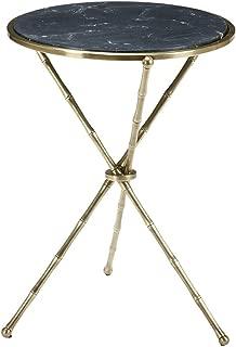 Ethan Allen Sagamore Accent Table, Antique Brass