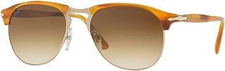 Persol Sunglasses PO8649S Striped Brown w/Brown Gradient Lens 53mm 96051 PO8649 PO 8649S PO8649-S PO 8649-S