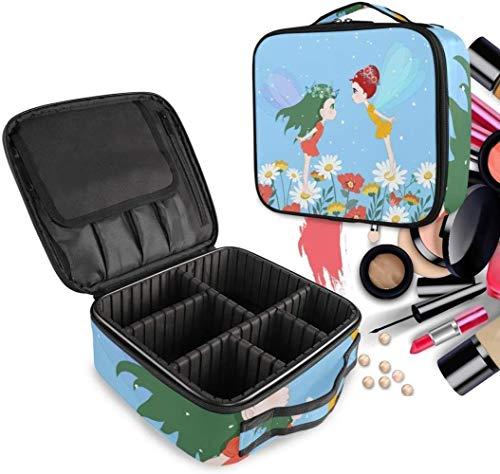 Cosmétique HZYDD Blue Angel Bee Make Up Bag Trousse de Toilette Zipper Sacs de Maquillage Organisateur Poche for Compartiment Femmes Filles Gratuit