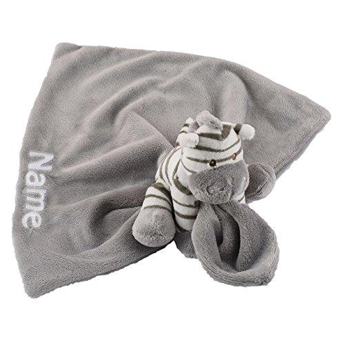 Striefchen® Kuschel-Zebra Schmusetuch mit Namen des Kindes in Geschenkverpackung