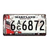 Eureya Maryland 6 AG 6872 Auto Kennzeichenschild Auto Tag Haus