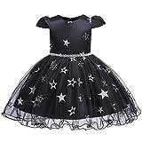 JIA DDZ vestido de Halloween con estrellas brillantes cubierto de malla, apto para cumpleaños o fiestas temáticas
