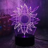 Canción De Hielo Y Fuego 3D Led Lámpara De Escritorio Con Luz Nocturna Decoración Para El Hogar Ventiladores Para Niños Niño Juguetes Regalo De Navidad touch switch