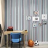 Celosía británica Papel pintado Roll Stars rojo azul rayas verticales Papel de pared Decoración para el hogar mejoras para el hogar papeles de pared