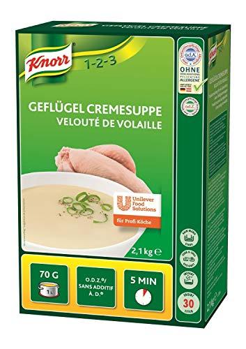 Knorr Geflügel Cremesuppe Trockenmischung (abgerundeter Geschmack) 1er Pack (1x 2,1kg)