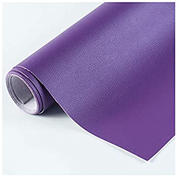 NAKAN Waterproof Faux Leather Sheets Fabric 39  x54   100x138cm  Soft Synthetic Leather Vinyl Upholstery Material for Chairs Sofa DIY Craft Color Purple