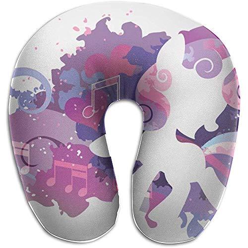 Schiuma di Memoria per cuscino per Collo a Forma di U di Little Pony Sweetie Belle Music, dolore per cuscino di riposo per viaggi di Moda, traspirante morbido confortevole regolabile