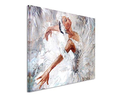 Paul Sinus Art XXL Fotoleinwand 120x80cm Ölgemälde – Ballerina auf Leinwand Exklusives Wandbild Moderne Fotografie für ihre Wand in vielen Größen