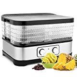 Healthy Material Food Dehydrator Adjustable Temperature Food Dehydrator For Fruits Vegetables and Meat Bpa-Free Tray 250W High Power Easy To Operate (4 Layer)