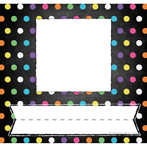 Top Notch Teacher Products Chalkboard/Dots Picture Plates, Pack of 32