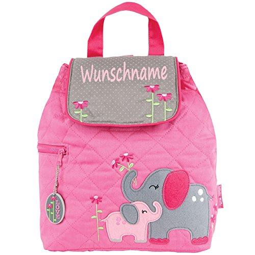 Rucksack Kindergartentasche mit Namen bedruckt Motiv Elefant