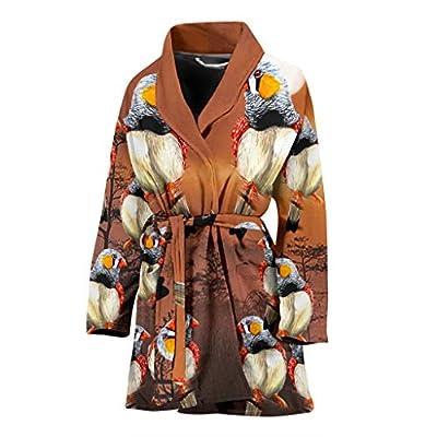 Zebra Finch Bird Art Print Women's Bath Robe