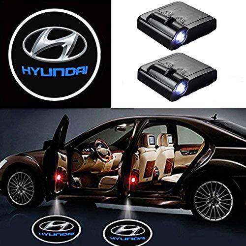 AllRing 2 Stücke Drahtlose Autotür Led Willkommen Laser Projektor Logo Licht Geist Schatten Licht Lampe Logos (Hyundai)