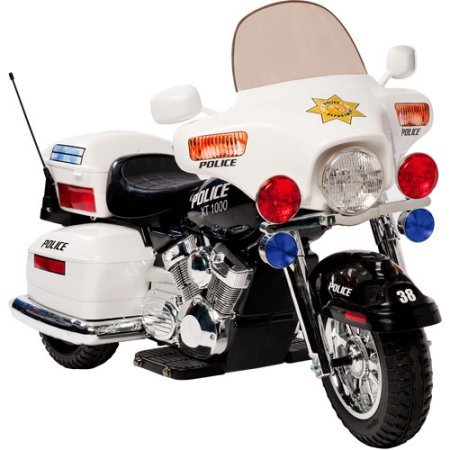Kid Motorz Police Motorcycle 12-Volt Battery-Powered Ride-On With...
