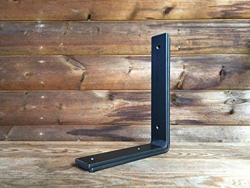 /Équerres en acier de style industriel et rustique pour /étag/ères 40mm x 6mm lot de 2 /équerres Acier SHELF WIDTH UP TO 100mm