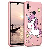 Eouine for Xiaomi Redmi Note 7 Case, Phone Case Silicone Pink with Pattern Ultra Slim Shockproof Soft Rubber Girl Women Cover Bumper Skin for Xiaomi Redmi Note 7 Smartphone, Unicorn 1