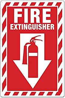 ZING 2887S Zing Safety Sign, Fire Extinguisher with Picto, 14