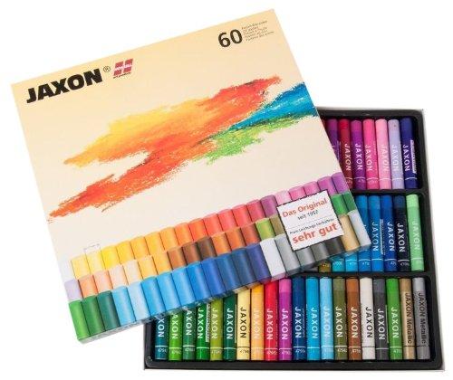 Honsell 47460 - Jaxon Ölpastellkreide, 60er Set im Kartonetui, brillante, lichtechte Farben, ideal für Künstler, Hobbymaler, Kinder, Schule, Kunstunterricht, frei von Schadstoffen