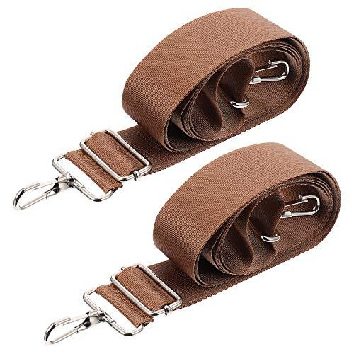 ABOOFAN 2pcs correa de hombro ajustable nylon reemplazo correa crossbody bolso correas