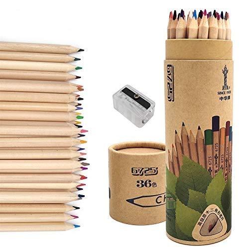 36 Buntstifte, Farbstifte Kinder und Erwachsene für Malbuch, Zeichnen und Skizzieren
