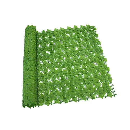 LOPADE x 118 rolos de tela de cerca artificial com folhas de cindapsus, cerca de privacidade falsa, painéis de cobertura de tela de parede de folha e treliça de videira para decoração ao ar livre, jardim, quintal, positiva