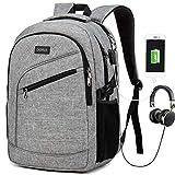 Mochila para ordenador portátil, bolsa para ordenador portátil para hombre y mujer, mochila impermeable para el día a día, mochila escolar de viaje, mochila para el día a día con puerto de carga USB