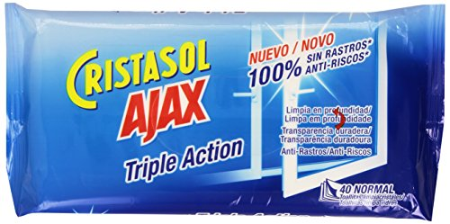 Ajax - Lingettes Vitres x 40 - lot de 2
