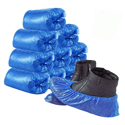 Disposable Shoe Covers, Yeeco 100 Pack(50 Pairs) Waterproof Shoe Covers Non Slip XL Shoe & Boot Covers for Indoors, Shoe Covers for Women Men - Blue