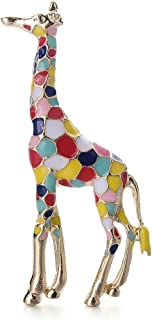 Cute Lapel Pin Cartoon Giraffe Brooch Pins for Clothes Bags Backpacks Durable and Useful