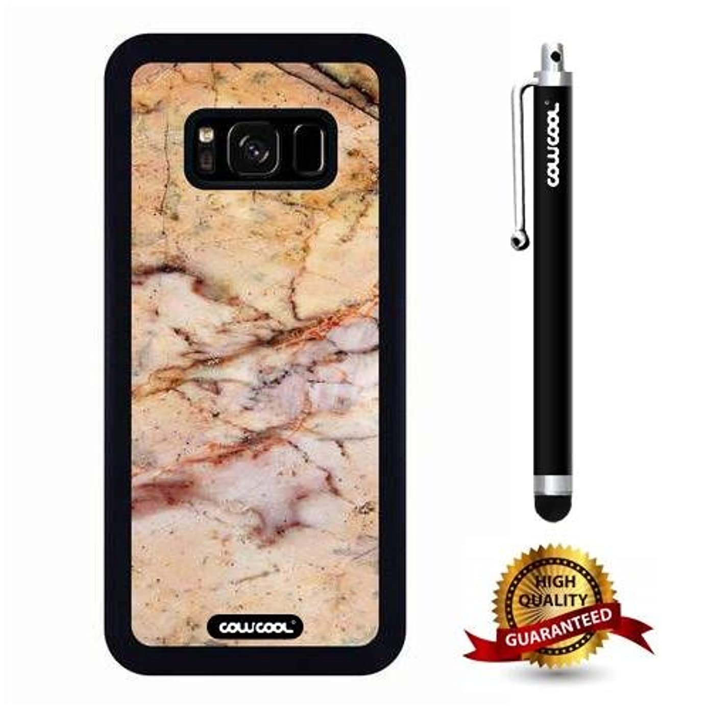 Galaxy S8 Case, Marble Pattern Case, Cowcool Ultra Thin Soft Silicone Case for Samsung Galaxy S8 - Slash The Times Marble Texture