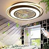 Ventilateur Invisible Luminaire Ventilateur De Plafond À LED Plafonnier Réglable Avec Éclairage Chambre Plafonnier Lampe De Salon Réglable Avec Télécommande Ventilateur Silencieux Chambre D'enfants