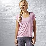 Reebok OS Breeze BS tee - Camiseta para Mujer, Color Rosa, Talla XS