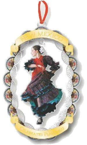New Mexico Governor's Mansion Christmas Ornament 2019 New Mexico Celebrates Flamenco 'La EMI'