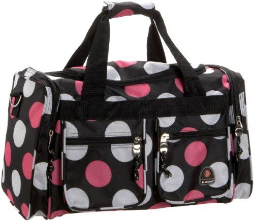 Rockland Duffel Bag, Multi/Pink Dot, 19-Inch