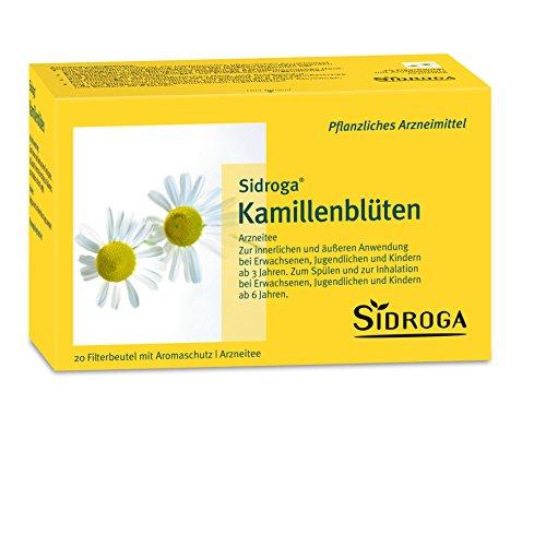 Sidroga Kamillenblüten-Tee – Arzneitee bei Magen-Darm-Beschwerden und Entzündungen – 20 Filterbeutel à 1,5 g