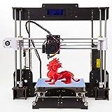 Officeink A8 3D Prusa Drucker Kit DIY Holzrahmen Hohe Präzision LCD Bildschirm Desktop 3d Printer Bausatz Mit 1.75mm ABS/PLA Filament, Bau Messung 220 * 220 * 240 mm Druckgröße