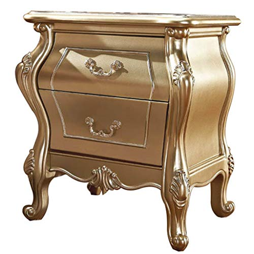 Brmind-Bedside table High-End Multi-Funzione Comodino Tavolo Armadio Camera da Letto Armadietto, Quercia, Champagne
