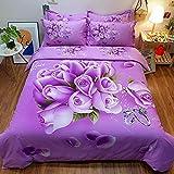 Bedclothes-Blanket Juegos de Cama de 90,Conjunto 3D de Ropa de Cama de Cuatro Piezas de Girasol Amarillo Tridimensional-mi_Cama de 1.5m