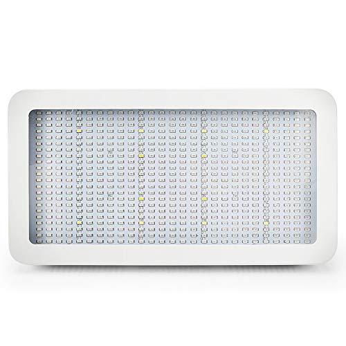 Derlights LED Grow Light, lampada da 600W a spettro completo a doppio chip ad alta potenza per coltivare tende e serra, rosso e blu con UV + IR per coltura idroponica Fiore in erba in erba e semina