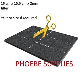 Filtre universel Catfresh - 15,5 x 16x 2mm d'épaisseur - En charbon actif - Remplacement pour litière de chat