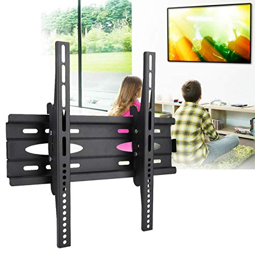 FOLOSAFENAR TV Wall Monitor Estante de Pared de TV Estante de TV Laminado en frío, para LG/Samsung/Whaley/Xiaomi Negro