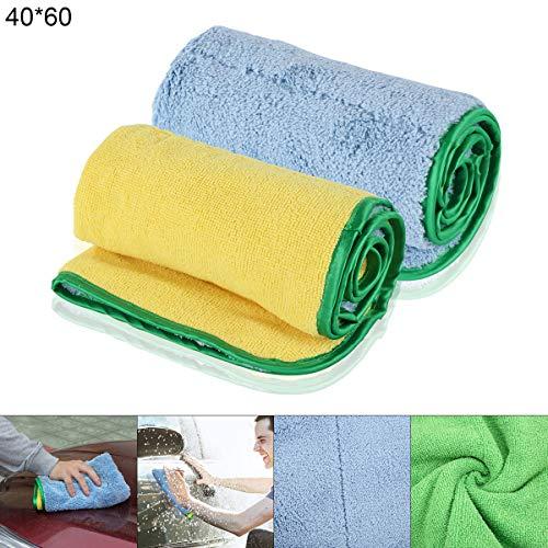 ePathChina® Auto drogen handdoeken, Fluweel + Vezel Droog-nat Multi-doel, Super Zachte Microvezel Reinigingsdoek 2 Stks