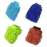 Manopla de microfibra para lavado de coche, 4 unidades, guan