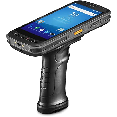 Android Handheld Data Terminal Mobile Computer with 2D PDF417 Zebra Barcode Scanner 3G 4G WiFi BT GPS, Ergonomic Pistol Grip for Warehouse Inventory